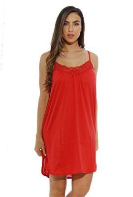 1520C-S-Red-Dreamcrest-Nightgown-Womans-Pajamas-Women-Sleepwear-0