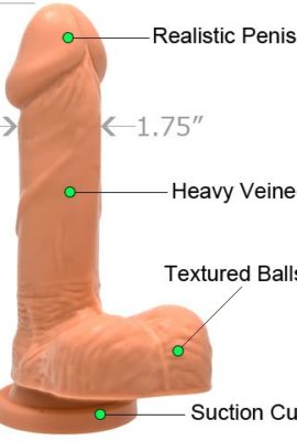6-Inch-Realistic-Dildo-Cock-and-Balls-with-Suction-Mount-Base-Natural-Flesh-0