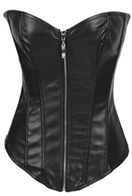 AlivilaY-Fashion-Sexy-Faux-Leather-Corset-2340A-With-G-String-Black-Zipper-M-0