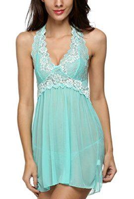 Avidlove-Women-Outfits-Halter-Lingerie-Mini-Nightwear-Lace-Babydoll-Green-S-0