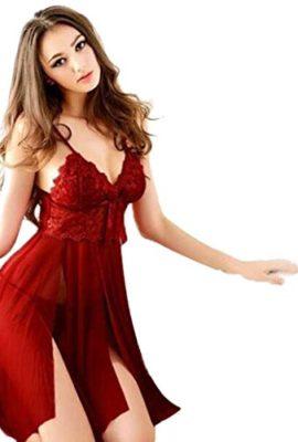 Baishitop-Sexy-Lingerie-Lace-G-string-Nightwear-Dress-Sexy-Underwear-Red-0