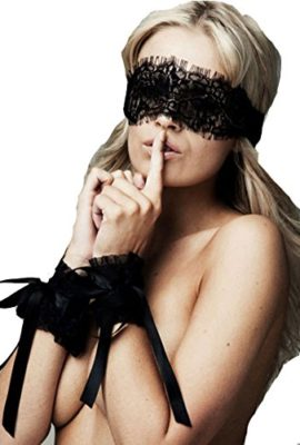 Blidece-Womens-Ecstasy-Black-Lace-Eye-mask-and-Restraint-Handcuffs-Sex-Sets-0