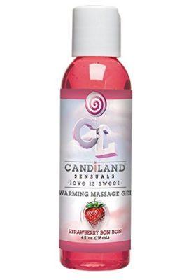 Doc-Johnson-Candiland-Sensuals-Flavored-Warming-Massage-Gel-Strawberry-4-Fluid-Ounce-0