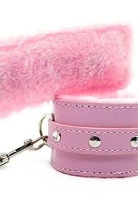 Hiti-Furry-Handcuffs-Sexy-Wrist-Restraints-Role-Play-Flirt-Tools-in-Pink-0-0