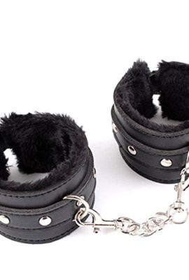 Hiti-Leather-Fur-Handcuffs-Sexy-Mischief-Tool-Wrist-Restraints-Bondage-0