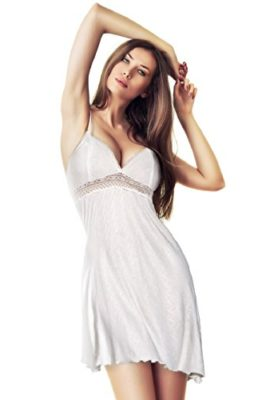 Miorre-100-Cotton-Beige-Chemise-with-Lace-Detail-Beige-Large-0