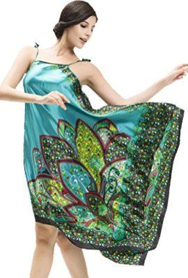 Womens-Sexy-BOHO-Strap-Long-Nightgown-Sleepwear-DressBlue-0