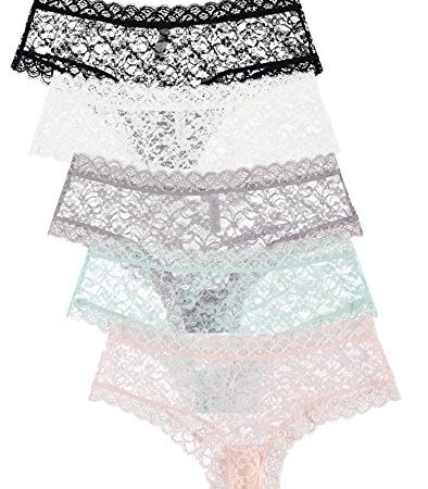 5-Pack-Free-to-Live-Womens-Trimed-Sexy-Lace-Boy-Short-Panties-XXL-0